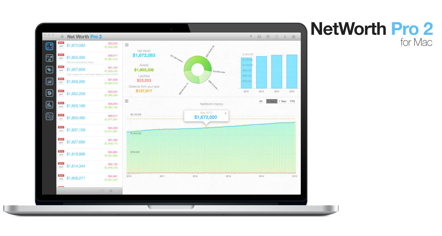 Net Worth Pro 2 for Mac
