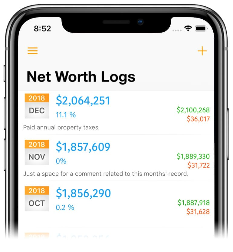 Net Worth Pro 2 iOS
